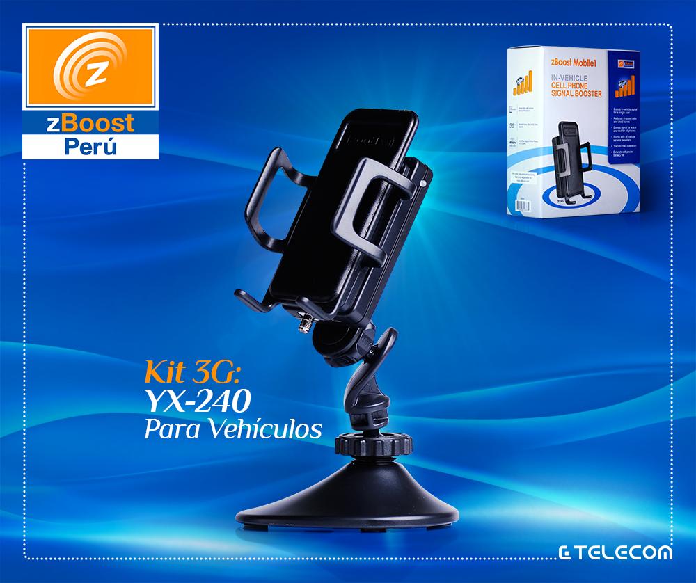 bd9399158ff Amplificador de señal celular para auto zBoost modelo YX240   GC Telecom